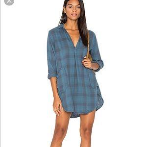 Revolve plaid shirt dress